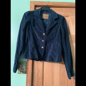 Beautiful blue velvet blazer